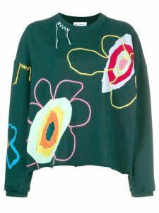 Mira Mikati embroidered sweatshirt - Green