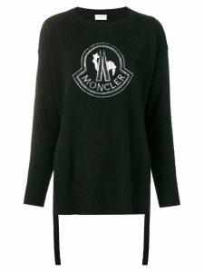 Moncler logo sweater - Black