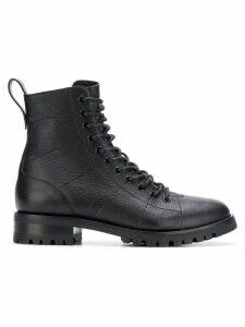 Jimmy Choo Cruz flat combat boots - Black
