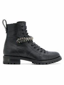 Jimmy Choo Cruz combat ankle boots - Black
