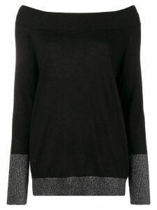 Snobby Sheep boat neck sweater - Black