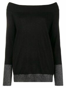 Snobby Sheep boat neck sweater - Black