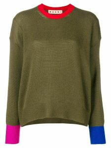Marni colourblock sweater - Green