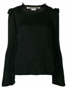 Comme Des Garçons raw hem sweater - Black
