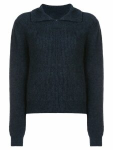 Ganni collared sweater - Black