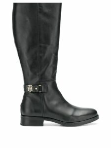 Tommy Hilfiger mid-calf buckle boots - Black
