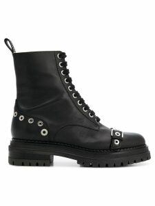 Sergio Rossi lace-up boots - Black