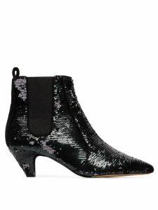 Tabitha Simmons Effie 50 sequin ankle boots - Black