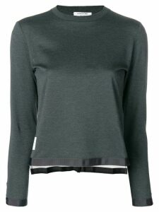 Thom Browne sheer back sweater - Grey
