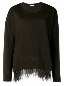 P.A.R.O.S.H. ostrich feather sweater - Brown