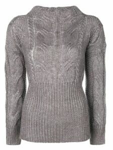 Snobby Sheep braided knit sweater - Grey