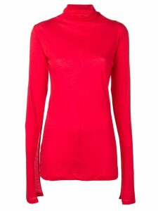 UNRAVEL PROJECT slit sleeve jumper - Red