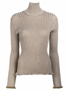 Chloé ribbed metallic jumper - Green