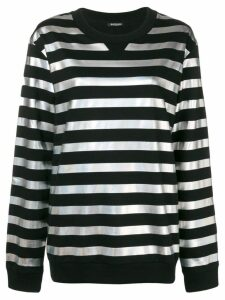 Balmain metallic striped sweatshirt - Black