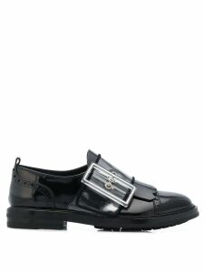 AGL oversized buckle loafers - Blue