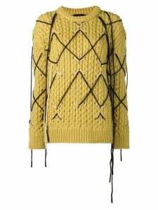 Calvin Klein 205W39nyc intarsia knit sweater - Yellow