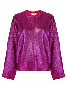 MSGM metallic knit jumper - Pink