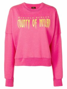 Marcelo Burlon County Of Milan logo sweatshirt - Pink