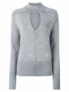 Chloé spliced neck sweater - Grey