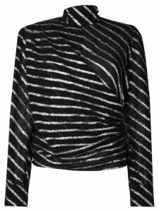 MSGM glitter striped top - Black