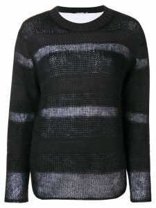 T By Alexander Wang stripe panel sweater - Black