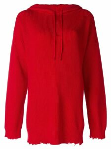 RtA knitted hoodie - Red