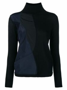 Stefano Mortari patchwork sweater - Black