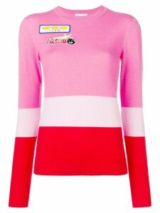 Mira Mikati colour-block knitted top - PINK