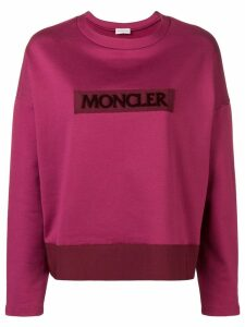 Moncler logo patch sweatshirt - PINK