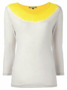 Suzusan contrast sweatshirt - Yellow