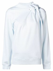 Y/Project asymmetric gathered sweatshirt - Blue