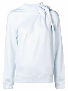Y/Project asymmetric gathered sweatshirt - Blue