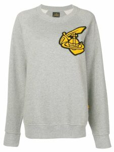 Vivienne Westwood Anglomania front patch sweater - Grey