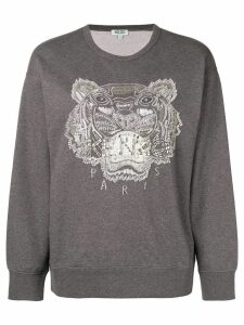 Kenzo embellished Tiger sweatshirt - Grey