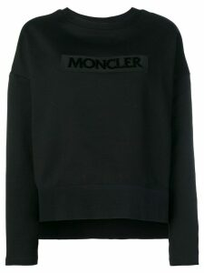 Moncler embroidered logo sweatshirt - Black