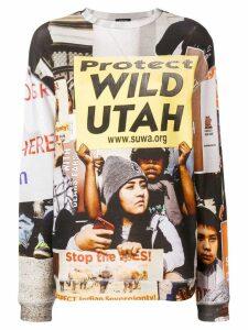 R13 Protect Utah printed sweatshirt - NEUTRALS