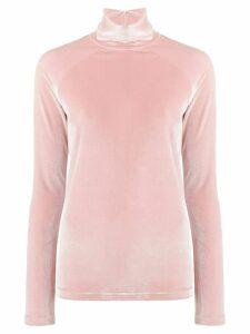 Haider Ackermann velvet turtleneck sweatshirt - Pink