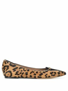 Tabitha Simmons Alexa leopard print ballerina shoes - Brown