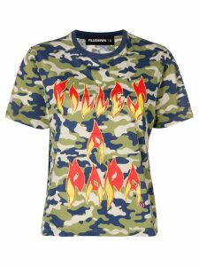 Filles A Papa Fire printed T-shirt - Green