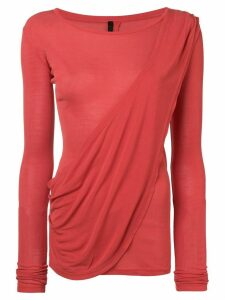 Unravel Project draped tee - Red