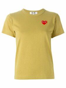 Comme Des Garçons Play logo patch T-shirt - Yellow