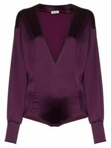 Attico satin bodysuit - Pink