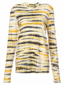 Proenza Schouler Tie Dye Long Sleeve T-Shirt - Yellow