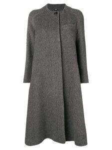 Jil Sander Navy concealed front coat - Grey