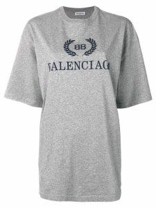 Balenciaga BB Balenciaga print T-shirt - Grey