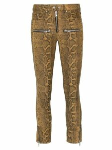 Isabel Marant Étoile Alone snake print cropped cotton blend trousers -