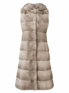 Liska long fur gilet - Neutrals