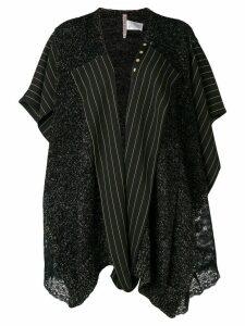 Antonio Marras asymmetric contrast panel coat - Black