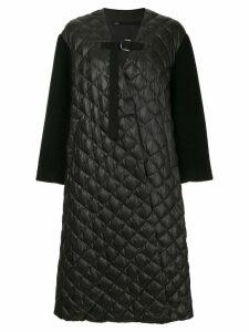 Muller Of Yoshiokubo Ben quilted oversized coat - Black
