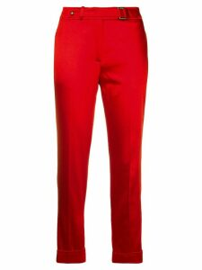 Tom Ford cropped cigarette trousers - Red